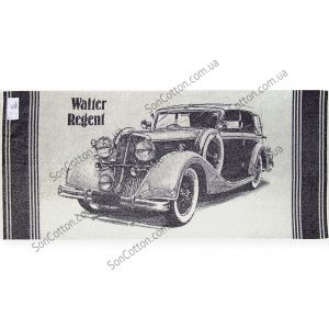 Ретро Авто 1. Махровое полотенце банное 67*150 см