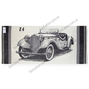 Ретро Авто 6. Махровое полотенце 67*150 см