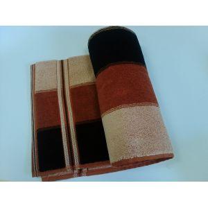 Волна коричневый. Махровое полотенце 50*90 см