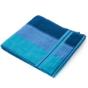 Волна синий. Махровое полотенце 68*140 см