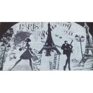 Мечты о Париже. Большое банное полотенце махровое 81*160 см