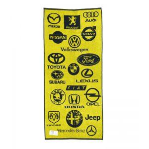 Авто желтый. Махровое полотенце 50*90 см