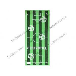 Футбольне поле. Махровое полотенце 50*90 см