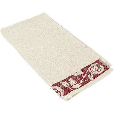 Герда Белый. Махровое полотенце для лица 50*90 см
