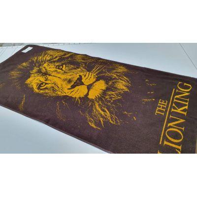 Лев. Махровое полотенце банное 67*150 см