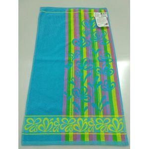 Лютики бирюзовый. Махровое полотенце банное 67*150 см