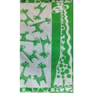 Жирафик. Махровое полотенце банное 67*150 см