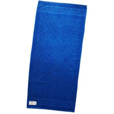 Журавинка (синий). Махровое полотенце 67*150 см