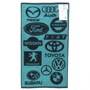 Авто синий. Махровое полотенце 50*90 см