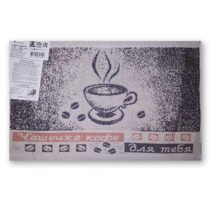 Чашка кофе. Махровое кухонное полотенце (салфетка) 30*50 см