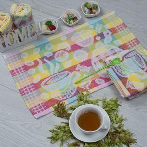 Чайная церемония. Махровое кухонное полотенце (салфетка) 30*50 см
