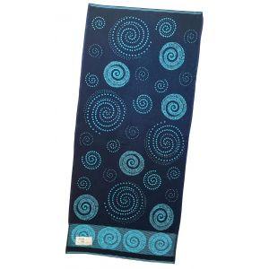 Наутилус бирюзовый. Махровое полотенце 50*90 см