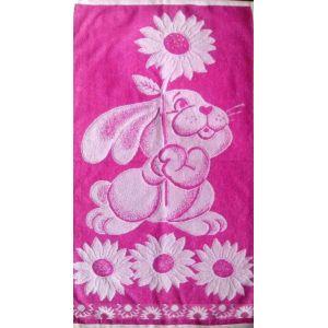 Радость розовый. Махровое полотенце 50*90 см