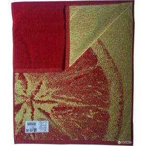 Цитрус красный. Махровое полотенце 67*150 см
