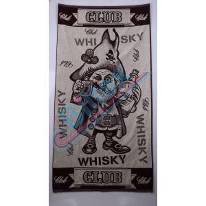 Виски Клуб. Махровое полотенце 81*160 см
