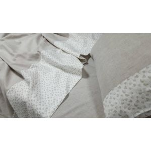 КПБ Дуэт серый. Постельное белье лен