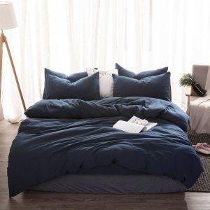КПБ Темно-синий №1118. Постельное белье лен