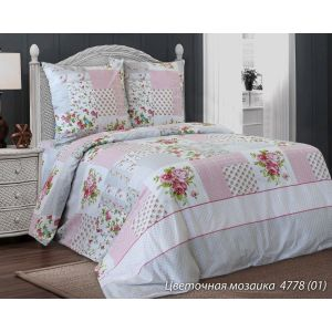 Комплект постельного белья Цветочная мозаика (белорусская бязь)