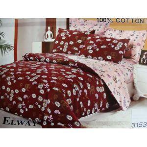 Постельное белье комплект ELWAY арт. 3153 сатин
