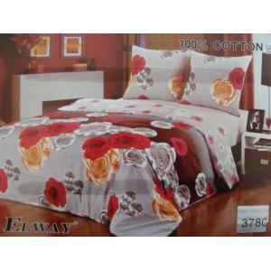 Постельное белье комплект ELWAY арт. 3780 сатин