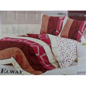 Постельное белье комплект ELWAY арт. 3816 сатин