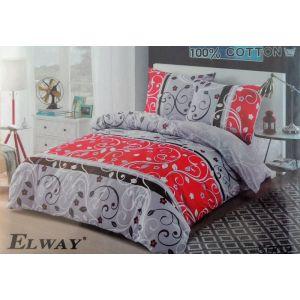 Постельное белье комплект ELWAY арт. 5002 сатин