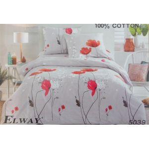 Постельное белье комплект ELWAY арт. 5039 сатин
