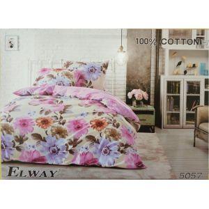 Постельное белье комплект ELWAY арт. 5057 сатин