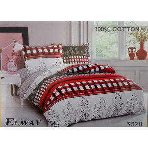 Постельное белье комплект ELWAY арт. 5078 сатин