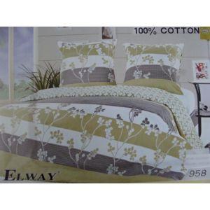 Постельное белье комплект ELWAY арт. 958 сатин