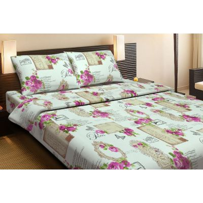 ROMANTIC МАЛИНОВЫЙ. Комплект постельного белья из ранфорса. Производитель Lotus, Украина