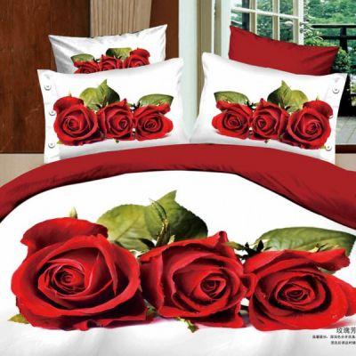 Любовь. Комплект постельного белья 3D сатин фотопринт, ТМ Love You, Украина