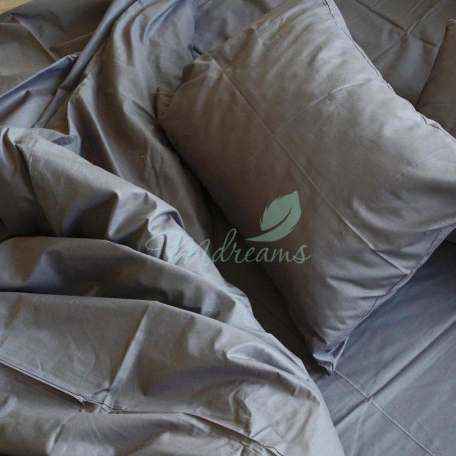 Комплект постільної білизни сатин Сіра. ТМ MDreams f8e57edd6bbb6