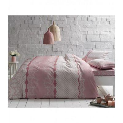 Sally v01 Евро розовый. Постельное белье ранфорс, TAC, Турция