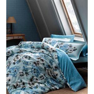 Barock mavi v01 голубой. Постельное белье TAC сатин