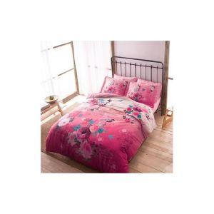 Botanic pembe розовый. Постельное белье TAC сатин