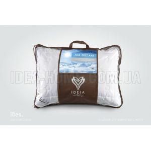 Подушка Air Dream Exclusive. Антиаллергенная, с внутренней подушкой, стеганый чехол на молнии. ТМ Идея