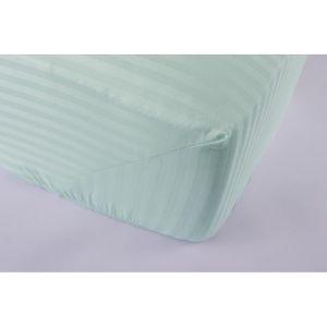 Простынь на резинке Ментоловая 1-1 см сатин страйп