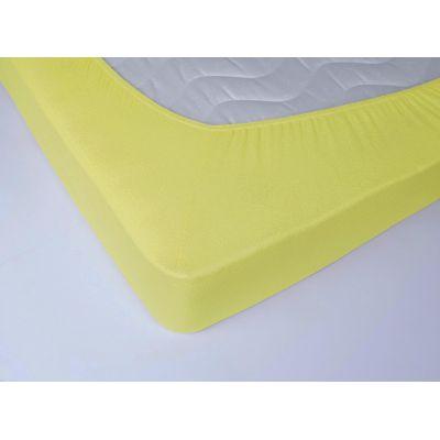 Жовте махрове простирадло на резинці. Виробник Lotus, Україна