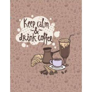 Кофе Keep calm. Вафельное полотенце кухонное