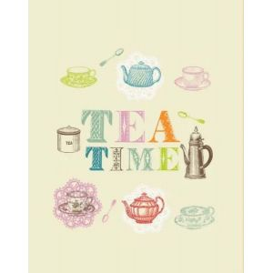 Время чая. Вафельное полотенце кухонное