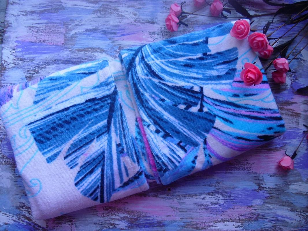 Пляжное полотенце Гармония синий, обзор, фото - 1