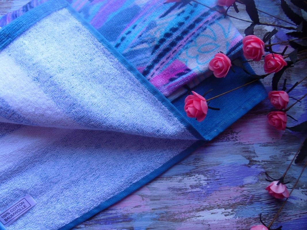 Пляжное полотенце Гармония синий, обзор, фото - 4