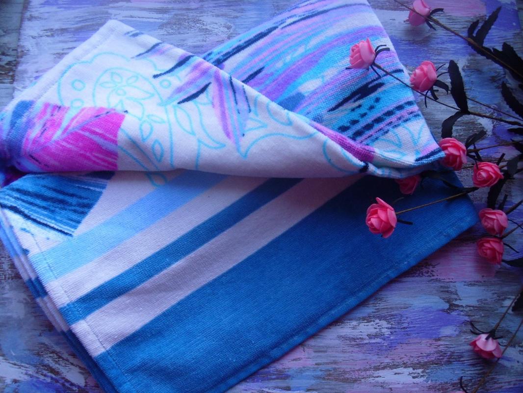 Пляжное полотенце Гармония синий, обзор, фото - 5