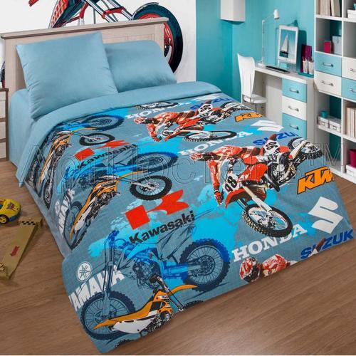 Фото постельное белье для мальчиков Мотокросс