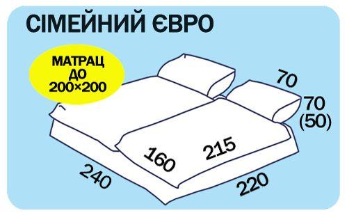 Размеры семейного евро постельного белья