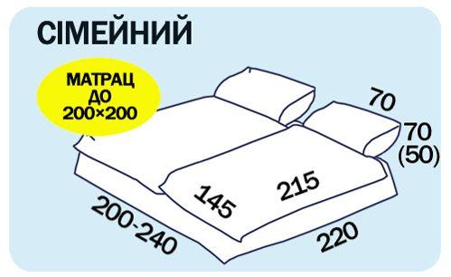 Размеры семейного постельного белья