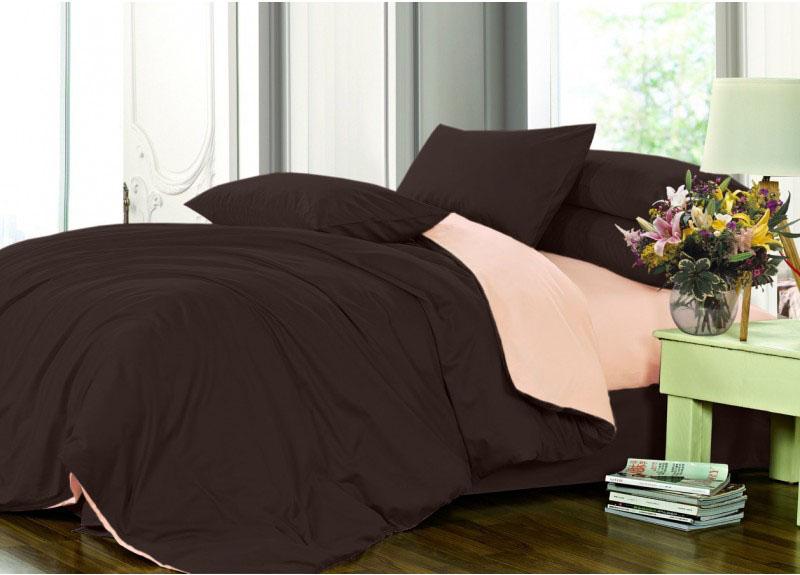 Комплект постельного белья из сатина Европейского размера